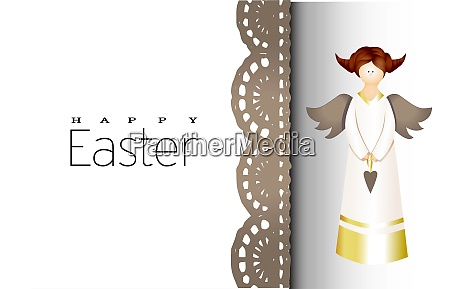 merry, easter., background, with, a, golden - 28279245