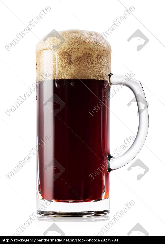 mug, of, dark, fresh, beer - 28279794