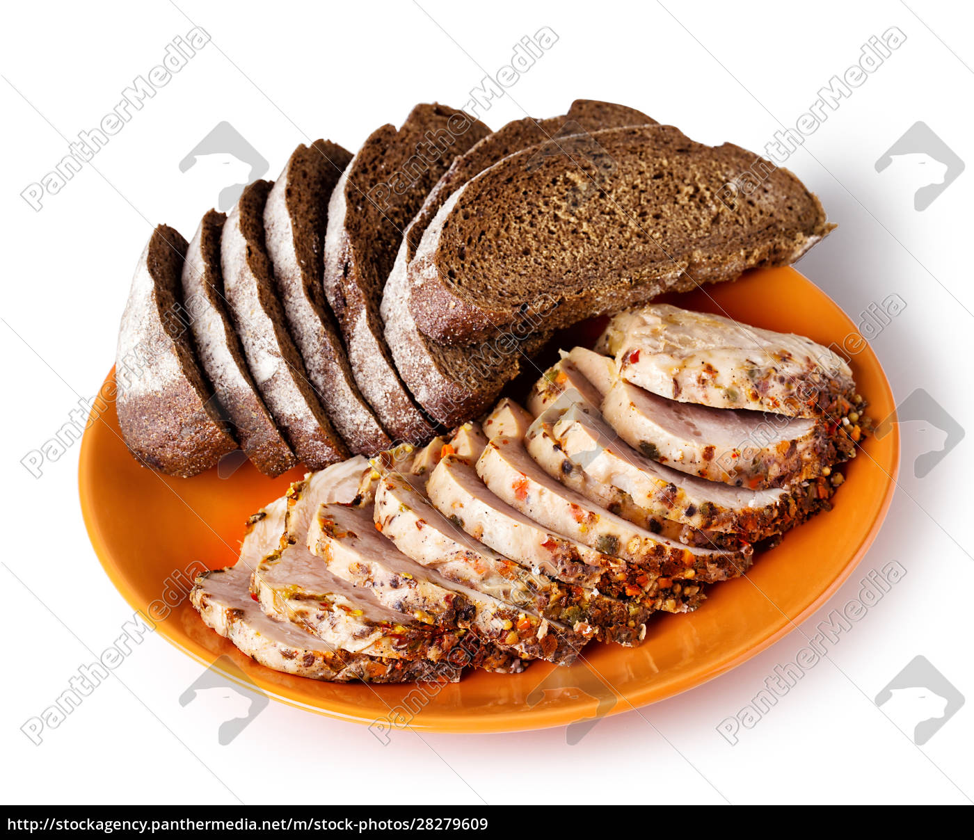 orange, dish, with, sliced, meat, and - 28279609