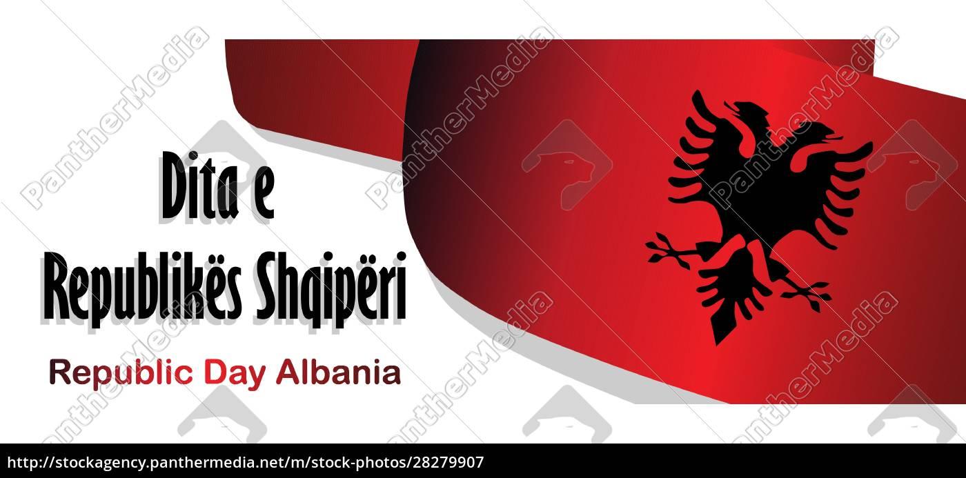 republic, day, of, albania., flag, on - 28279907