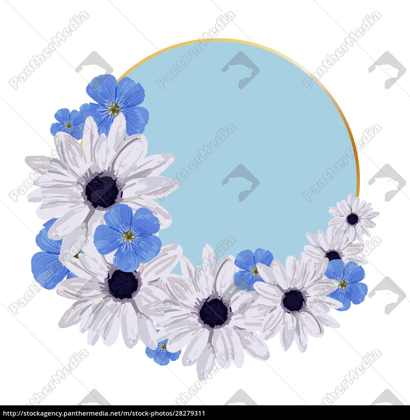 round, background, for, an, inscription., spring - 28279311