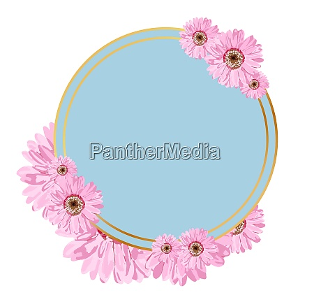 round, badge, with, flowers., place, to - 28279346