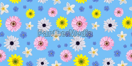 seamless, vector, flower, pattern., realistic, flowers. - 28279225