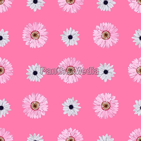 seamless, vector, flower, pattern., realistic, flowers. - 28279226