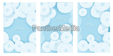 set, of, easter, cards., tender, blue - 28279262