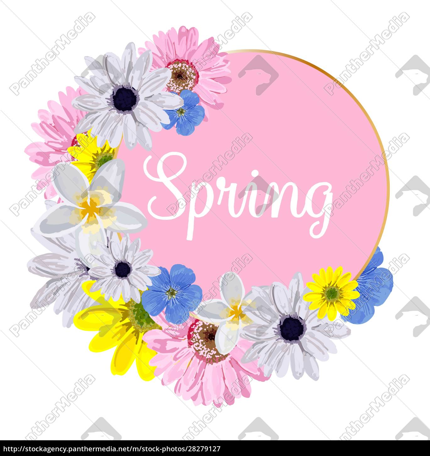 spring, hand, sketch, logo, , icon, typography - 28279127
