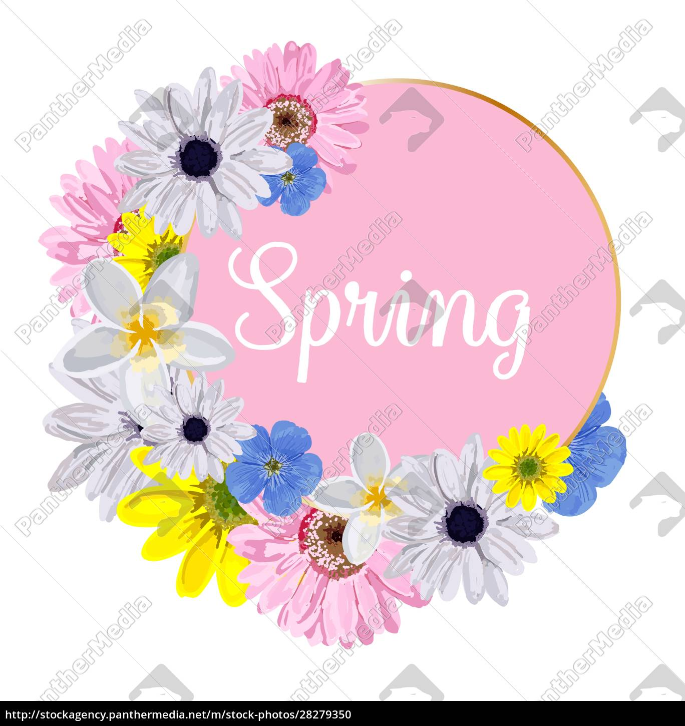 spring, hand, sketch, logo, , icon, typography - 28279350