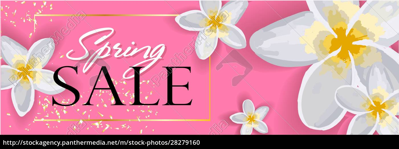 spring, sale, horizontal, banner, , header, for - 28279160