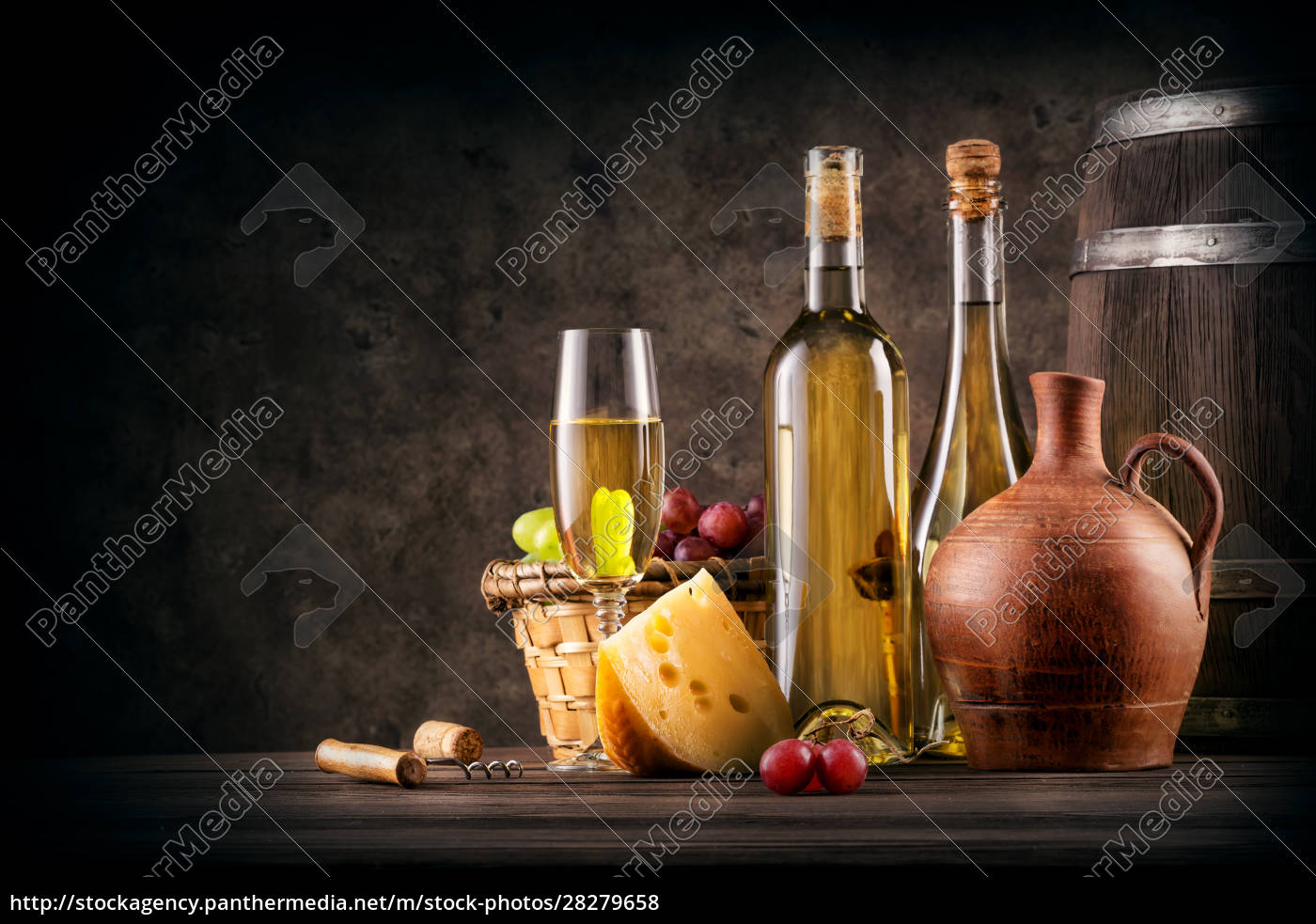 still, life, with, white, wine, and - 28279658