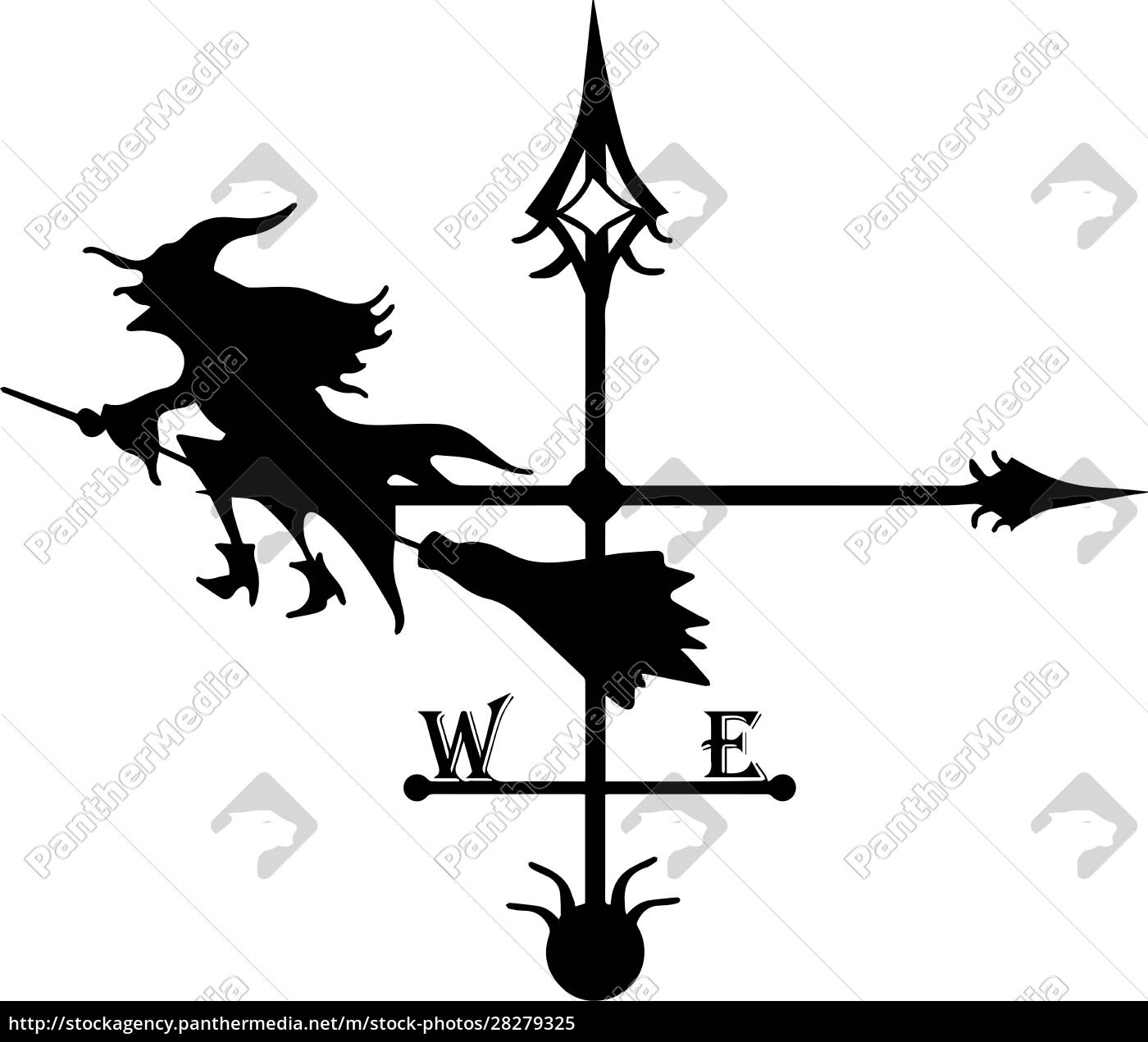 vane., chimney, decoration., iron, tenderloin., baba - 28279325