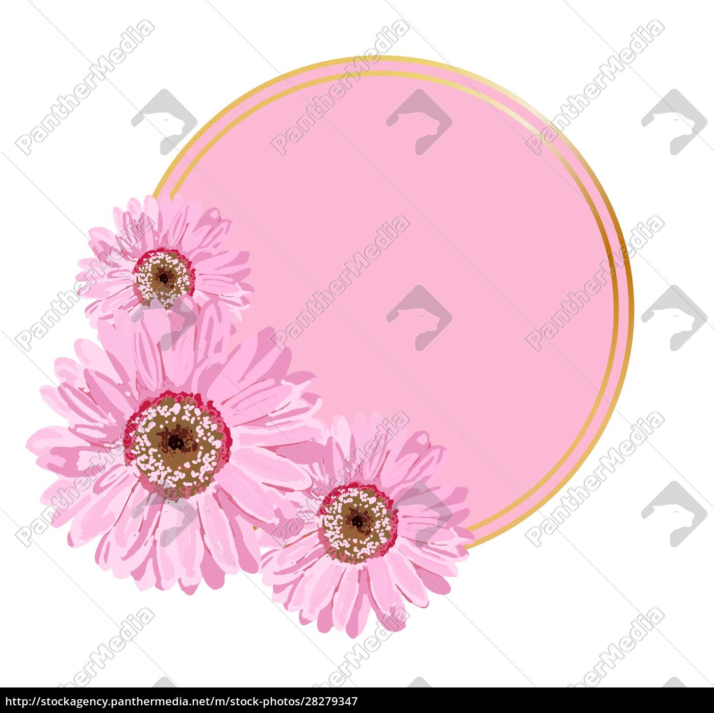vector, round, background, for, lettering., pink - 28279347