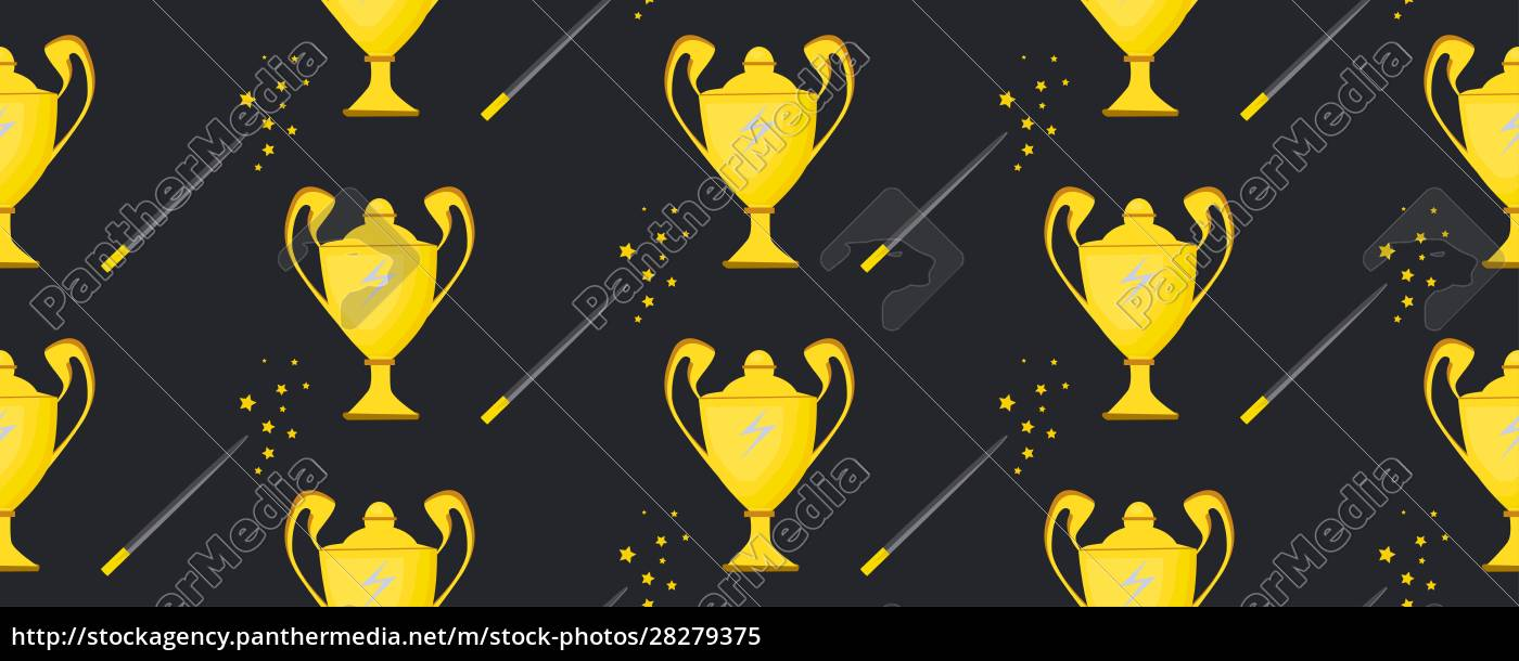winner, cup., seamless, pattern., background, with - 28279375