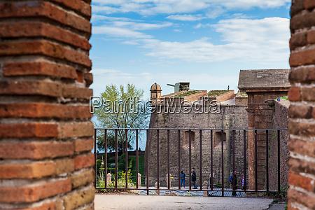 barcelona march 2018 montjuic castle