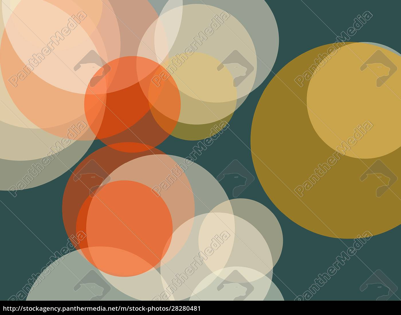 abstract, orange, yellow, circles, illustration, background - 28280481