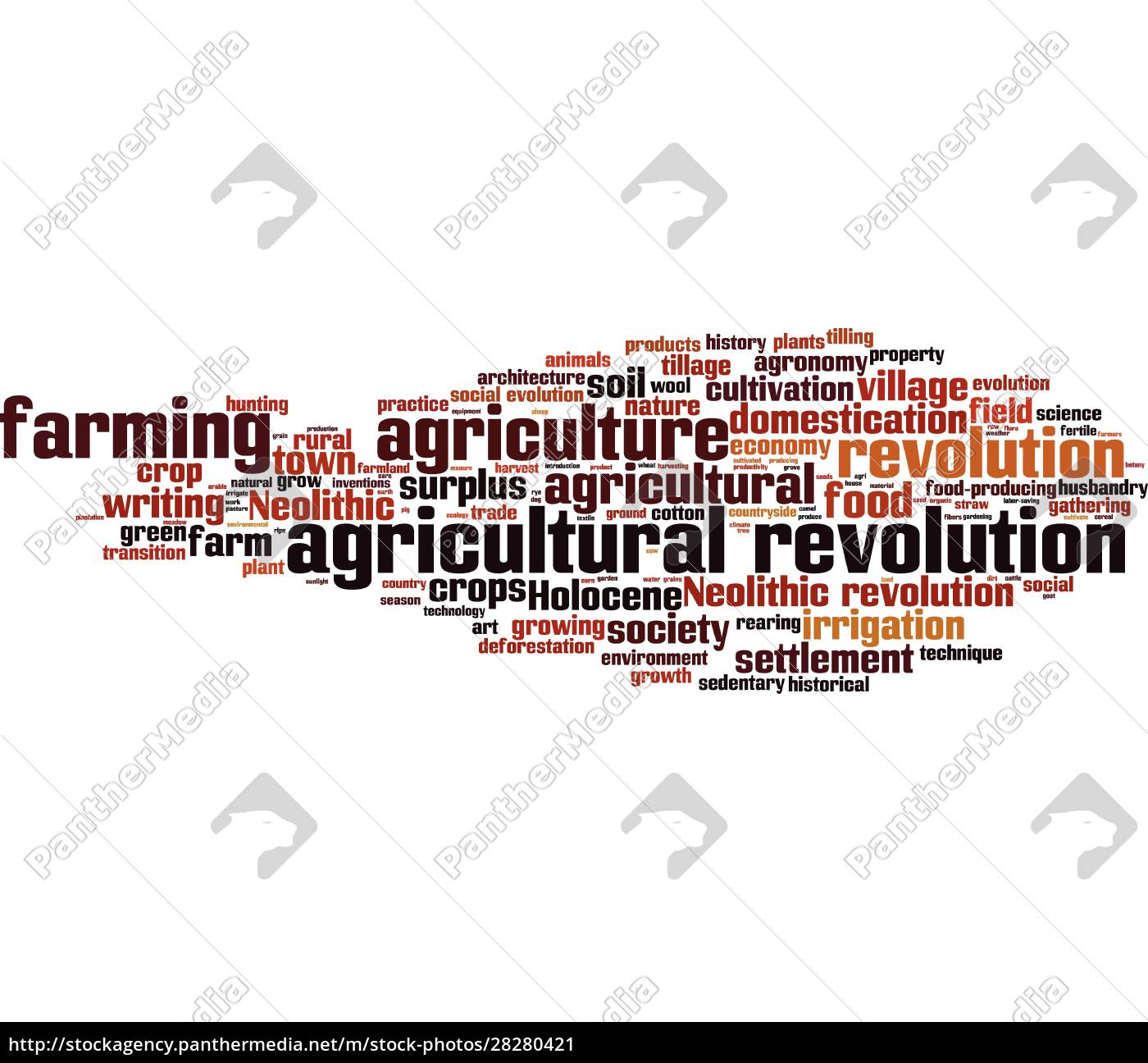 agricultural, revolution, word, cloud - 28280421