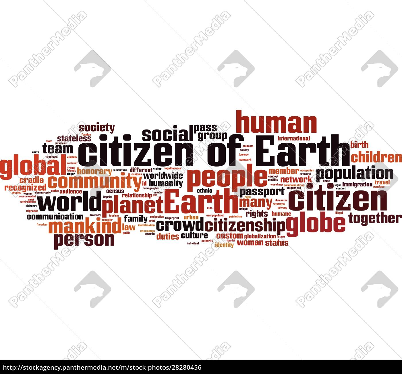 citizen, of, earth, word, cloud - 28280456