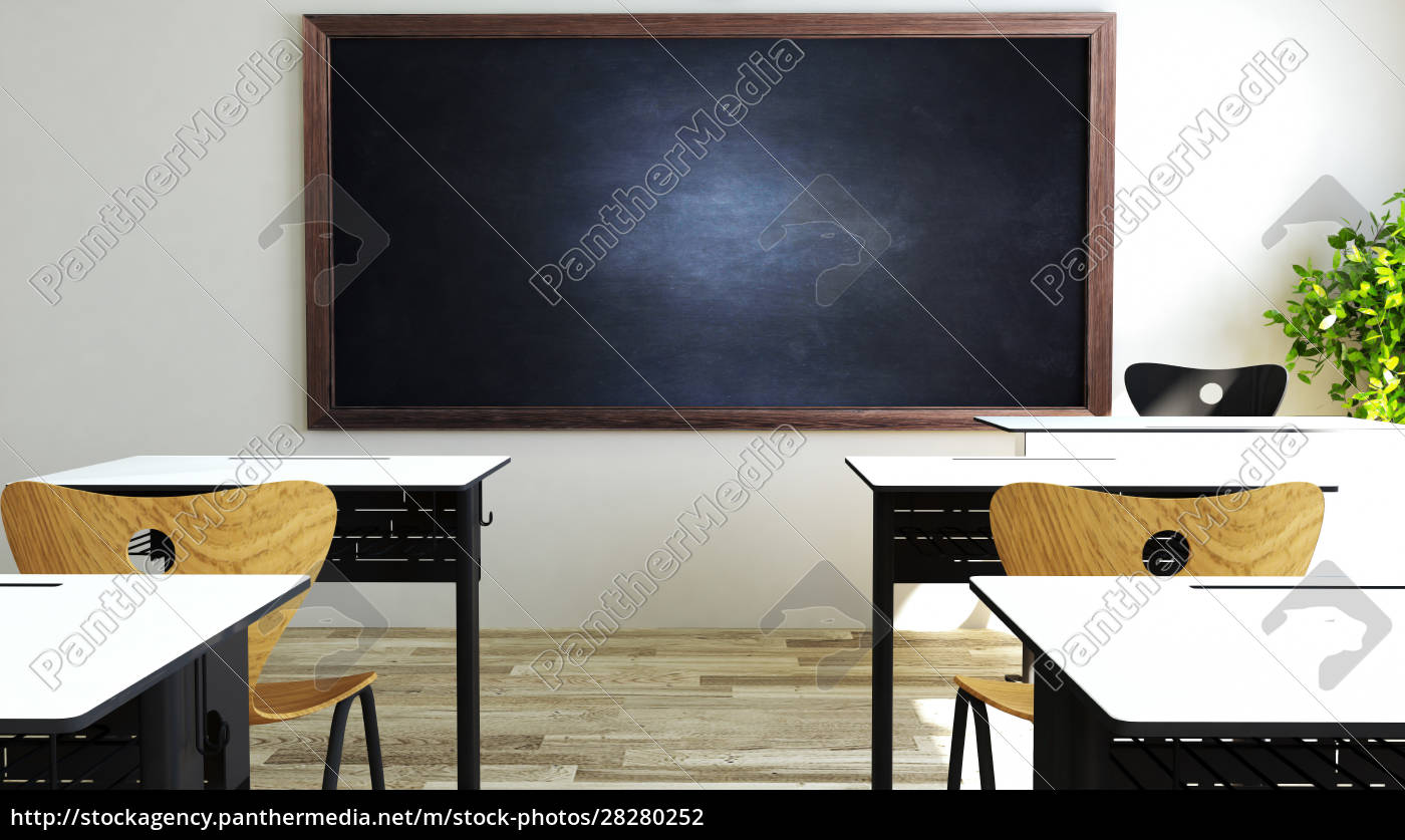 classroom, design, with, modern, desk, and - 28280252