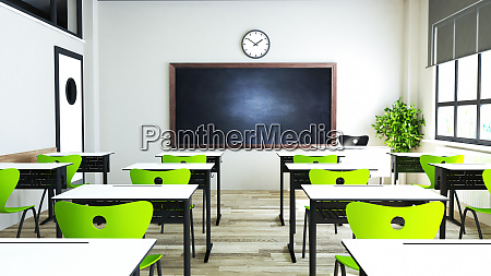 classroom, design, with, modern, green, seat - 28280293