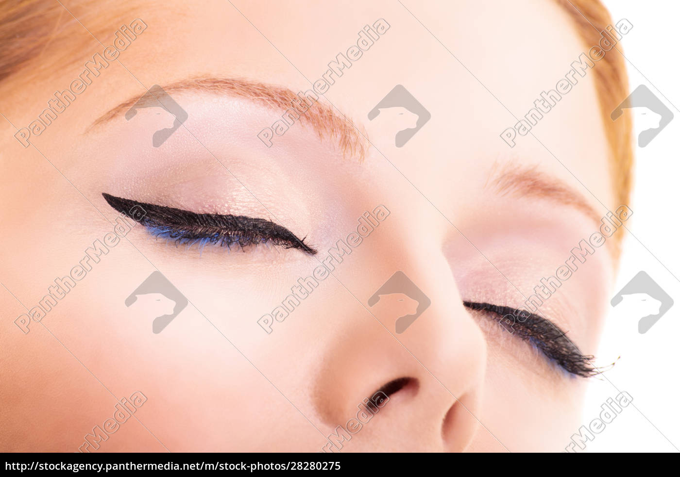 close-up, of, closed, eyes, with, black - 28280275