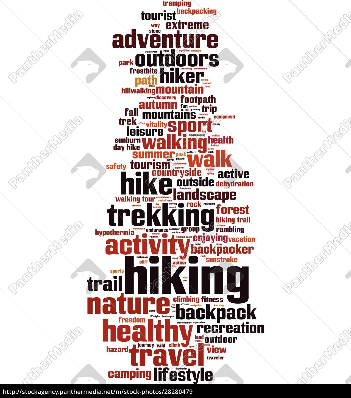 hiking, word, cloud - 28280479