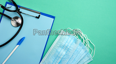 metal, stethoscope, , paper, holder, with, a - 28280470