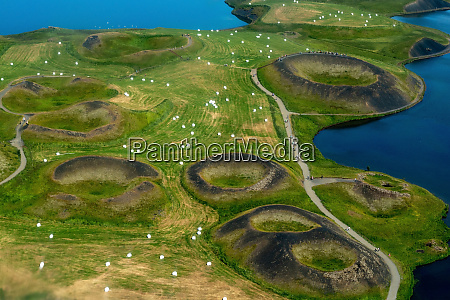 volcanic, craters, in, iceland, aerial, view - 28280214