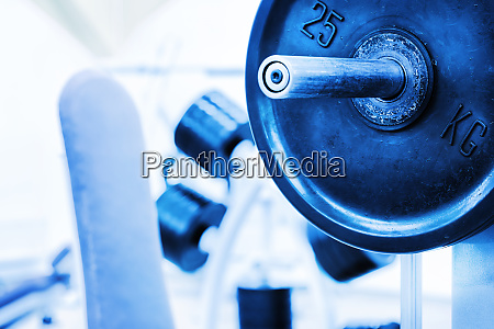 detail barbell from bench
