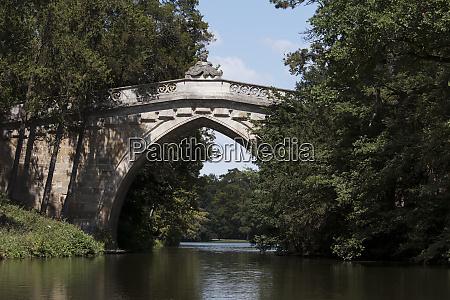 old bridge at laxenburg castle by