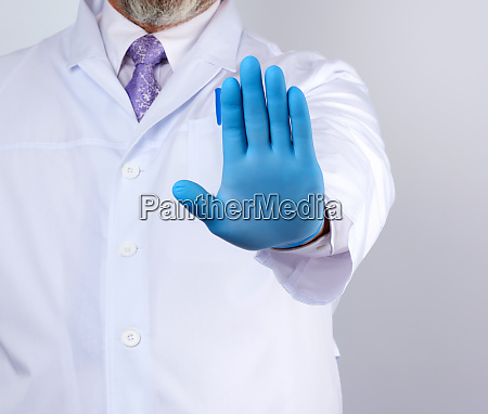 male doctor in a white coat