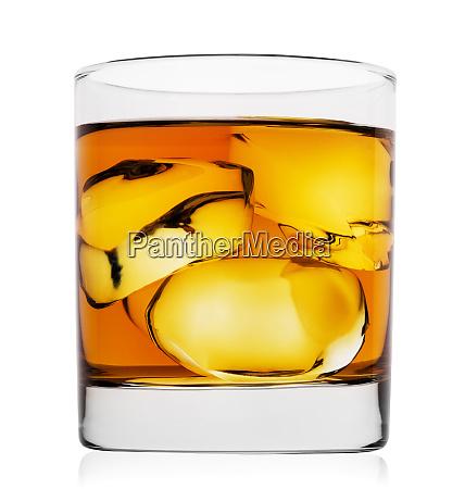 single malt whiskey with ice