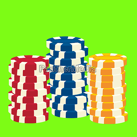chip token pile casino currency luck