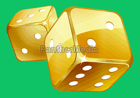 dices golden numbers play luck gambling