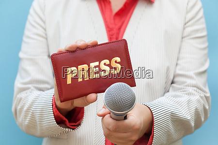 female journalist at work