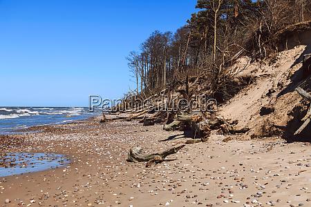 baltic sea coast with sandy steep
