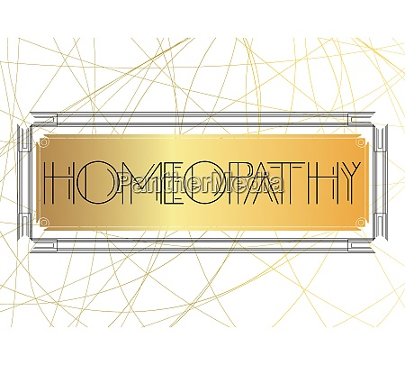 art deco homeopathy text