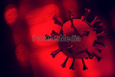digitally generated image ofcoronavirus
