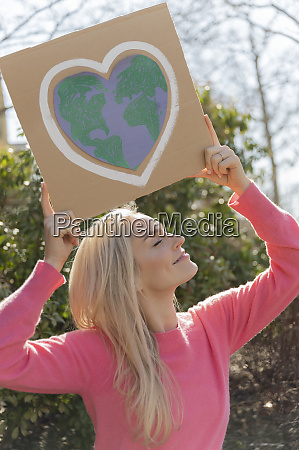 woman protesting climate change