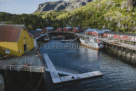 norway lofoten islands nusfjord dock in