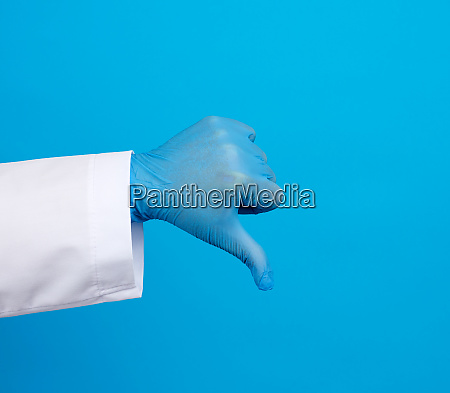 doctor in a white coat with