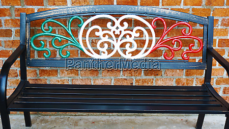 metal alloy park bench chair painted