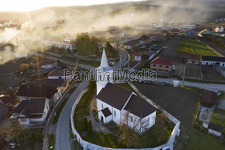 church drone view