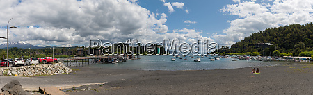 bathing beach and boats in the