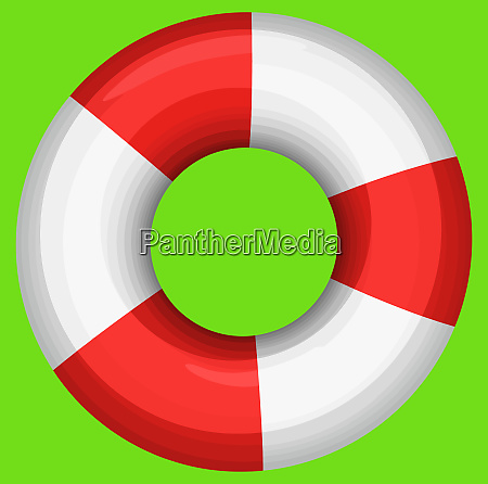 rescue buoy nautical survival green background