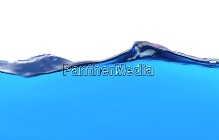 the surface of the water