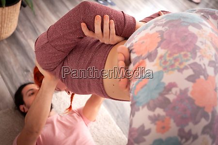 lifted badhakonasana posture
