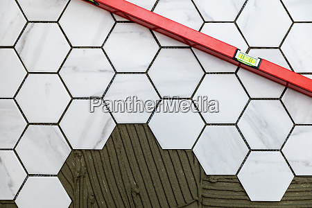 tiling laying marble texture hexagon
