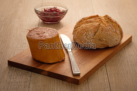 liver sausage and roll