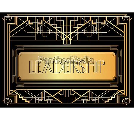 art deco leadership text