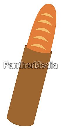 bakery bun crusty bread baguette illustration
