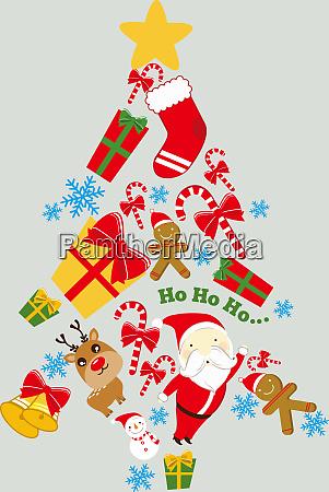 christmas tree santa claus rudolph winter